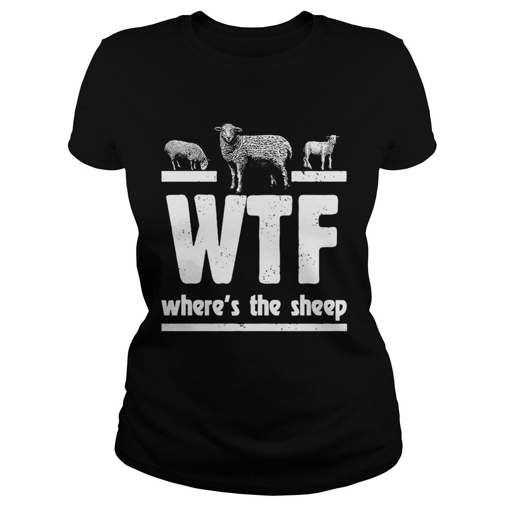 WTF Wheres The Sheep Classic Ladies