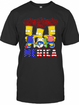 Bart Simpson Happy The 4Th Of July America T-Shirt