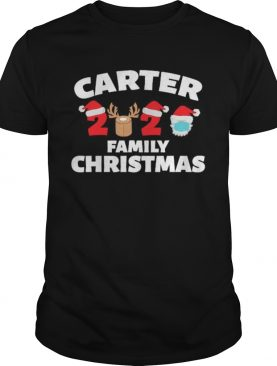 Carter Family Christmas 2020 Matching Santa Clause Mask shirt
