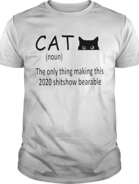 Cat Noun The Only Thing Making This 2020 Shitshow Bearable shirt