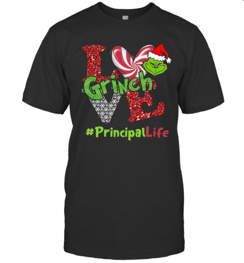 Love Grinch #Principallife Christmas T-Shirt Classic Men's T-shirt