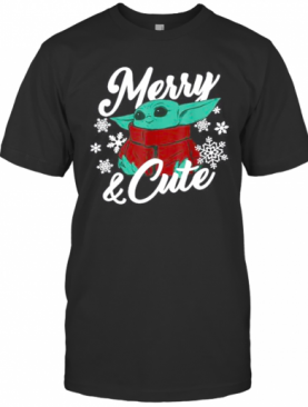 Mandalorian The Child Merry And Cute Christmas T-Shirt