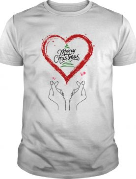 Merry Christmas Finger Heart shirt