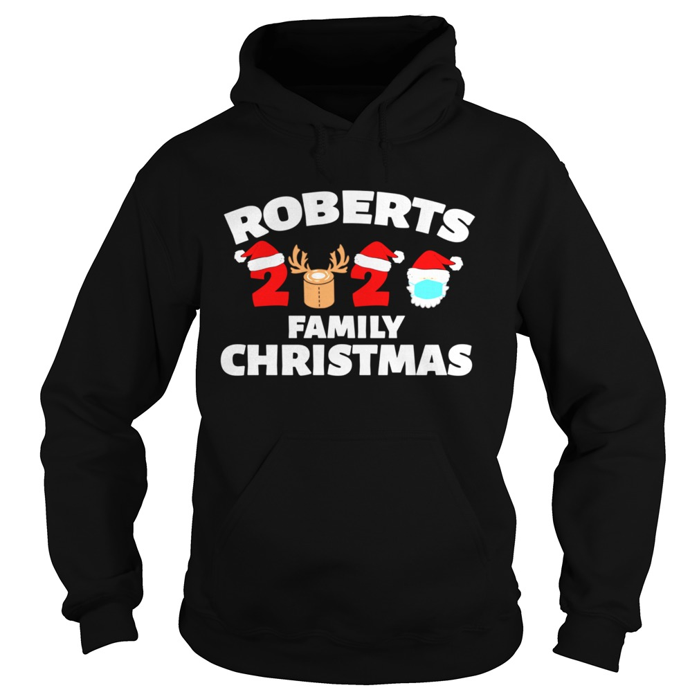 Roberts Family Christmas 2020 Matching Family Name Novelty Hoodie