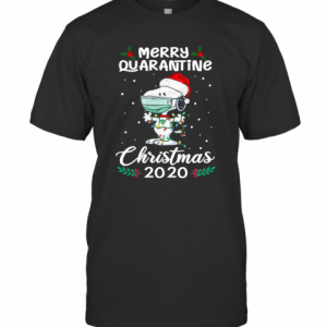 Snoopy Santa Wear Mask Merry Quarantine Christmas 2020 T-Shirt Classic Men's T-shirt