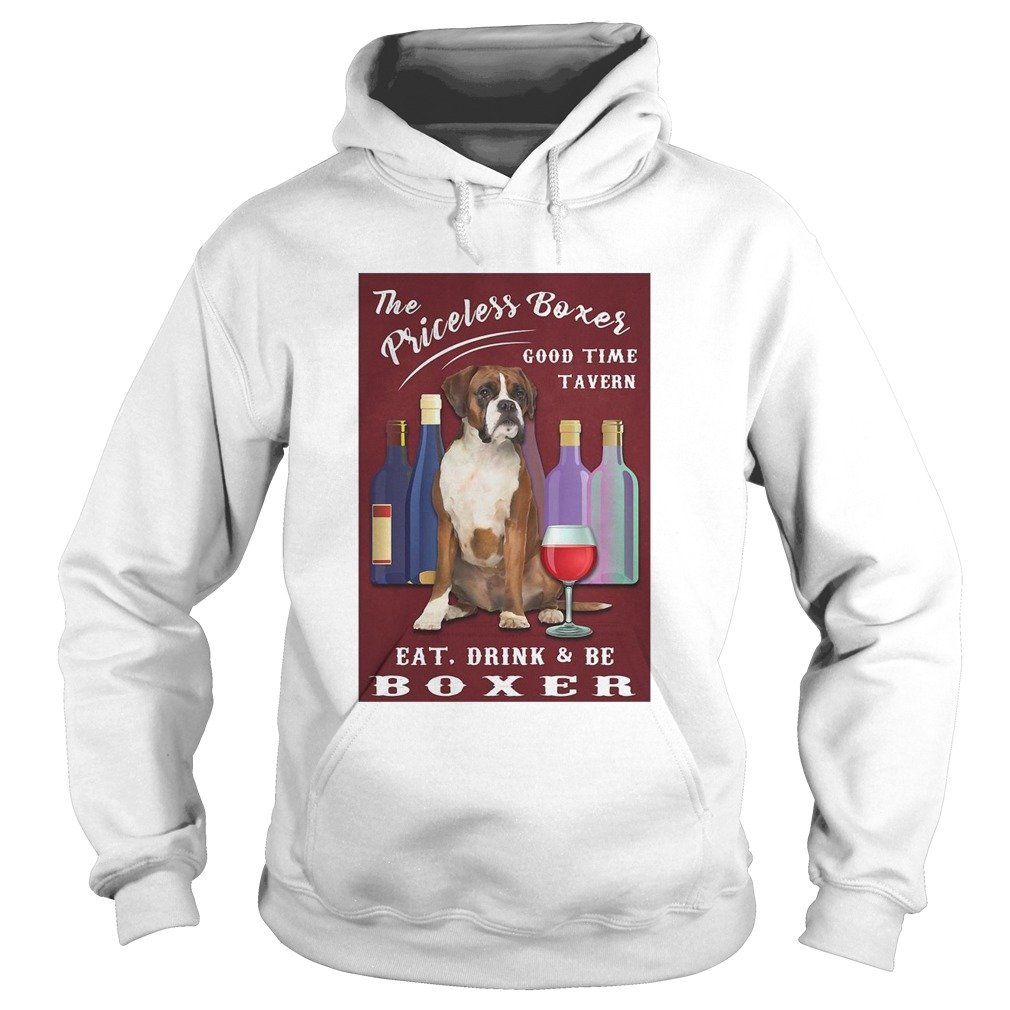 The Priceless Boxer Good Time Tavern Eat Drink And Be Boxer Hoodie
