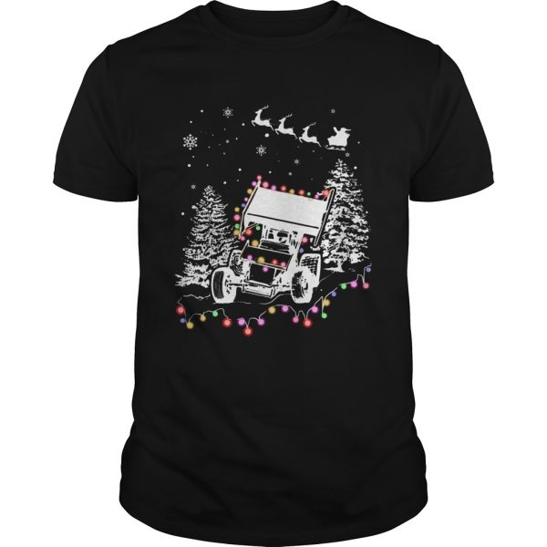 Winged Sprint Cars With Tree Christmas Lights  Unisex