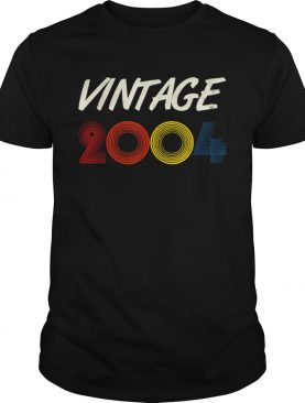 17th 2004 Birthday Retro Vintage 17 Years Old shirt
