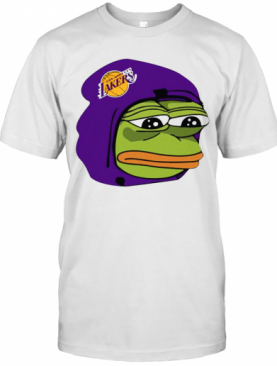 Cool Los Angeles Lakers Sad Pepe The Frog T-Shirt