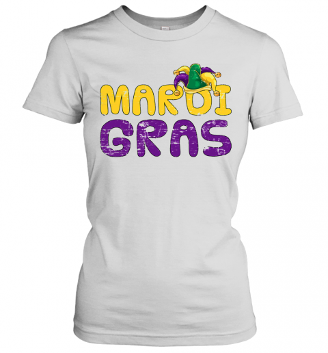 Costume Party Lover Jester Hat Carnival Mardi Gras T-Shirt Classic Women's T-shirt