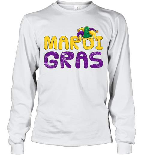 Costume Party Lover Jester Hat Carnival Mardi Gras T-Shirt Long Sleeved T-shirt