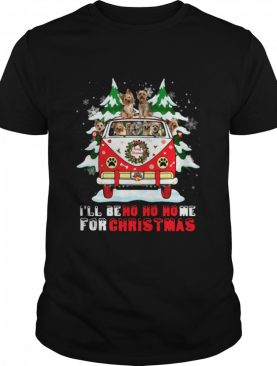Dogs driver car Ill be ho ho home for Christmas shirt