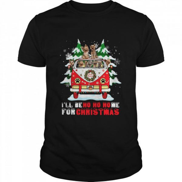 Dogs driver car Ill be ho ho home for Christmas  Classic Men's T-shirt