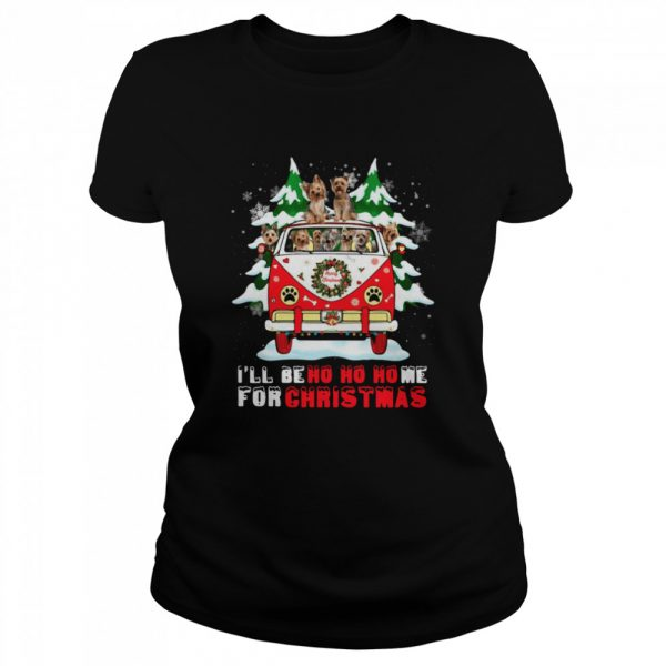 Dogs driver car Ill be ho ho home for Christmas  Classic Women's T-shirt