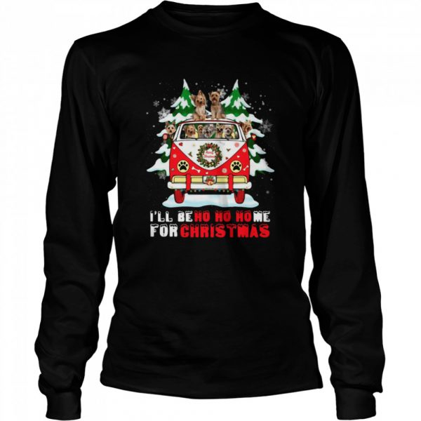 Dogs driver car Ill be ho ho home for Christmas  Long Sleeved T-shirt
