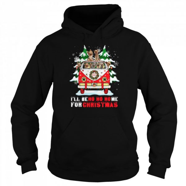 Dogs driver car Ill be ho ho home for Christmas  Unisex Hoodie