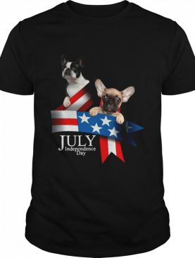 French Bulldog 4 Of July Independence Day American Flag shirt