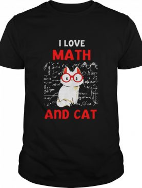 I lover Math and cat shirt