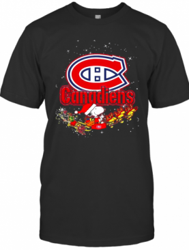 Montreal Canadiens Snoopy Christmas T-Shirt