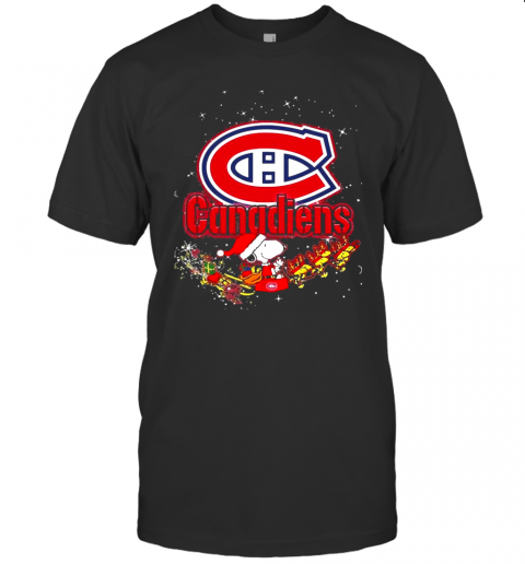 Montreal Canadiens Snoopy Christmas T-Shirt Classic Men's T-shirt