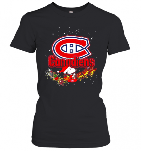 Montreal Canadiens Snoopy Christmas T-Shirt Classic Women's T-shirt