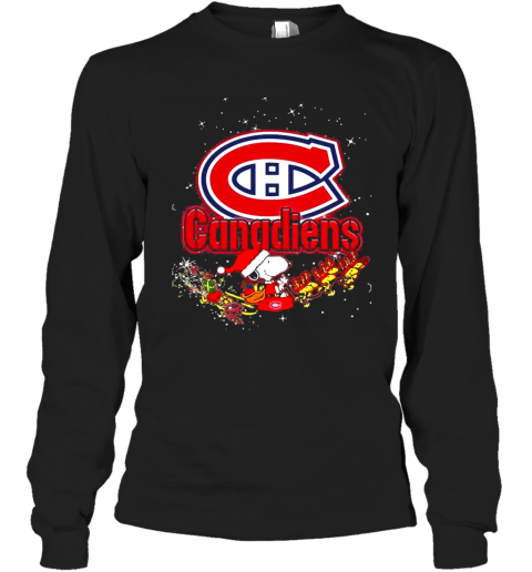 Montreal Canadiens Snoopy Christmas T-Shirt Long Sleeved T-shirt