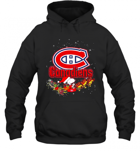 Montreal Canadiens Snoopy Christmas T-Shirt Unisex Hoodie