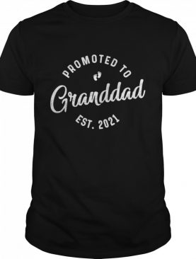 Promoted To Granddad Est 2021 New Grandfather shirt