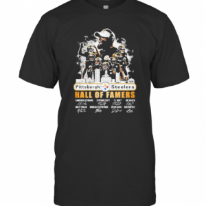 The Pittsburgh Steelers Hall Of Famers Players Signature 2021 T-Shirt Classic Men's T-shirt
