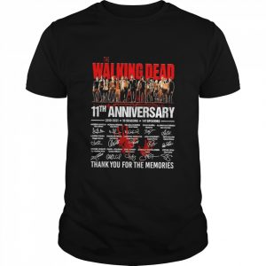 The Walking Dead 11th Anniversary 2010 2021 10 Seasons 147 Episodes Thank You For The Memories Signatures  Classic Men's T-shirt