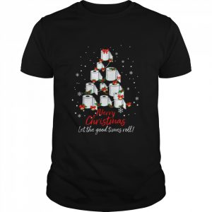 Toilet Paper Tree Merry Christmas Let The Good Times Roll  Classic Men's T-shirt