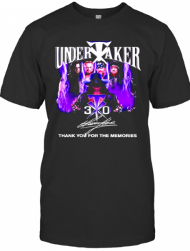 Undertaker 30 Thank You For The Memories Signature T-Shirt