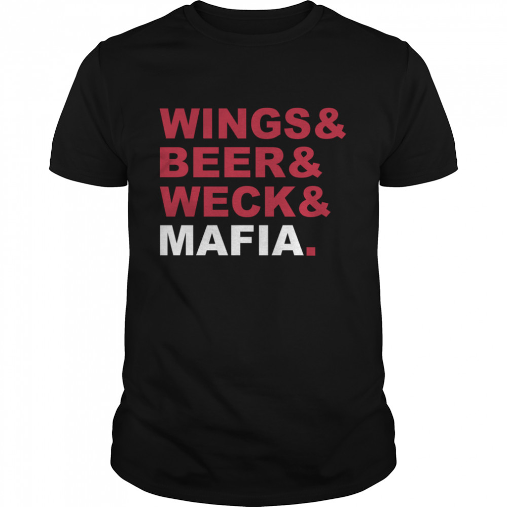 Wings And Beer And Weck And Mafia Classic Men's T-shirt