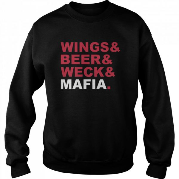 Wings And Beer And Weck And Mafia  Unisex Sweatshirt