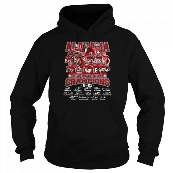 Alabama Crimson Tide Team Players Cfp National Champions 2021 Signatures  Unisex Hoodie