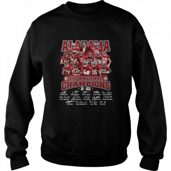 Alabama Crimson Tide Team Players Cfp National Champions 2021 Signatures  Unisex Sweatshirt