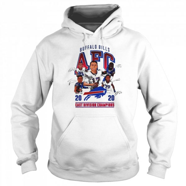 Buffalo Bills AFC 2020 East Division Champions Signatures  Unisex Hoodie