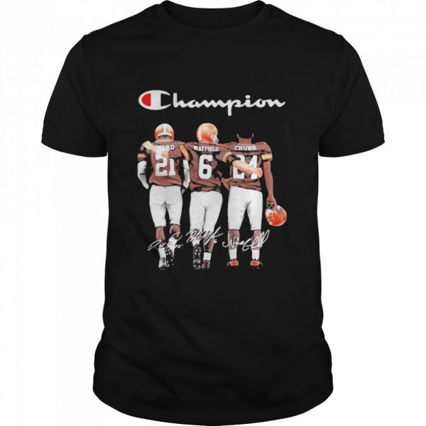 Champion Cleveland Browns Nick Chubb Baker Mayfield Signature Football  Classic Men's T-shirt