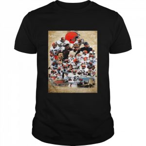 Cleveland Browns team football Players 2021 signatures  Classic Men's T-shirt