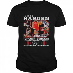 James harden 12th anniversary 2009 2021 thank you for the memories  Classic Men's T-shirt