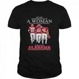 Never Underestimate A Woman Who Understand Football And Loves Alabama  Classic Men's T-shirt