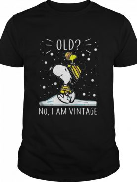 Old No I Am Vintage Snoopy And Woodstock shirt