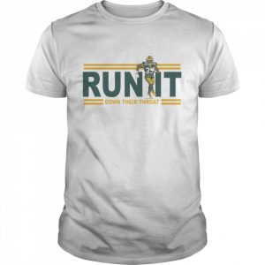 Run it down their throat Aaron Jones Green Bay Packers  Classic Men's T-shirt