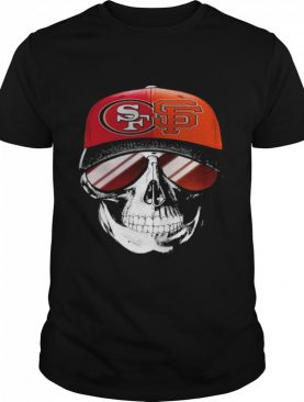 San Francisco 49ers and Los Angeles Lakers Skull sunglass shirt
