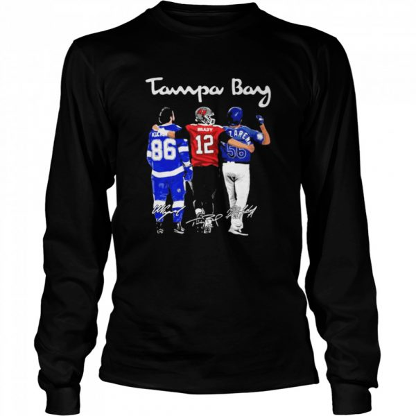 Tampa Bay Buccaneers Logo Signature  Long Sleeved T-shirt