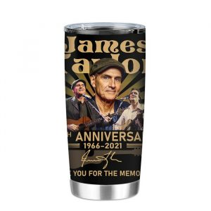 James Taylor 55th Anniversary 1966 2021 Thank You For The Memories Signature Tumbler