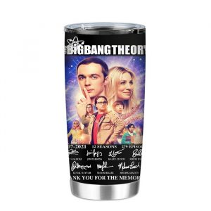 The Big Bang Theory 2007-2021 Signature Thank You For The Memories Tumbler