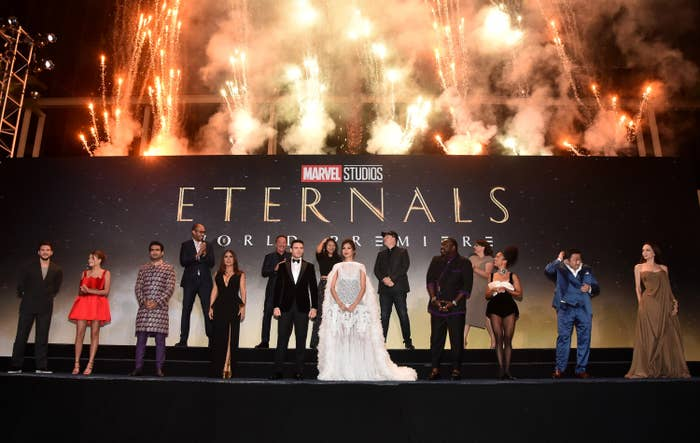 """Angelina Jolie's Daughter Upcycled Her 2014 Oscars Dress And Wore It To The """"Eternals"""" Premiere"""
